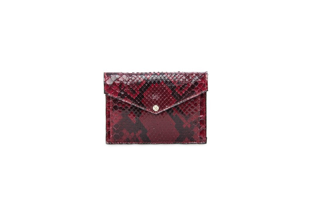 Provence Small Wallet, Oxblood Snakeskin