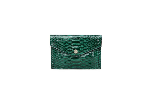 Provence Small Wallet, Emerald Glazed Snakeskin