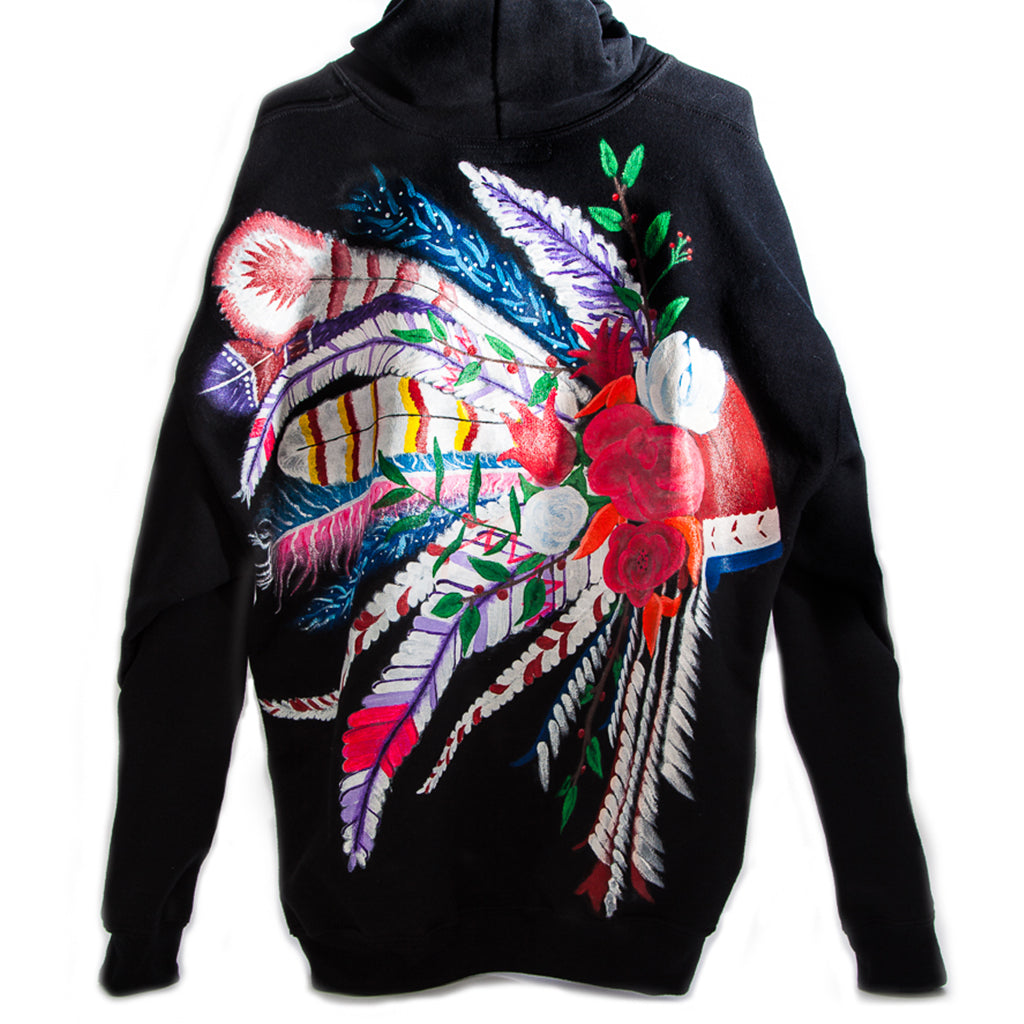 Custom Hand-Painted Hoodie, Back