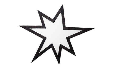 Jupiter Star Mirror, Matte Black Whipsnake