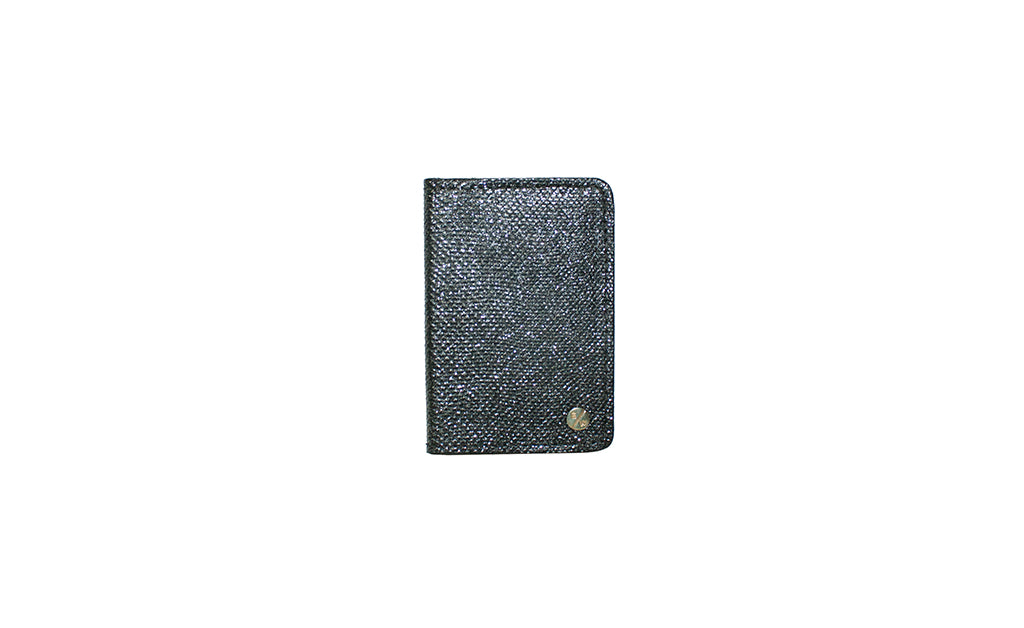 Panama Card Holder, Silver Sparkle Karung