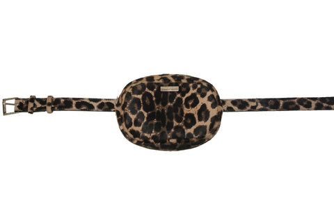 Avignon Fanny Pack with Belt, Leopard Calf Skin