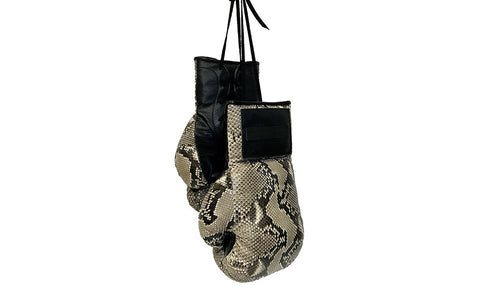 Manila Boxing Gloves, Natural Snakeskin