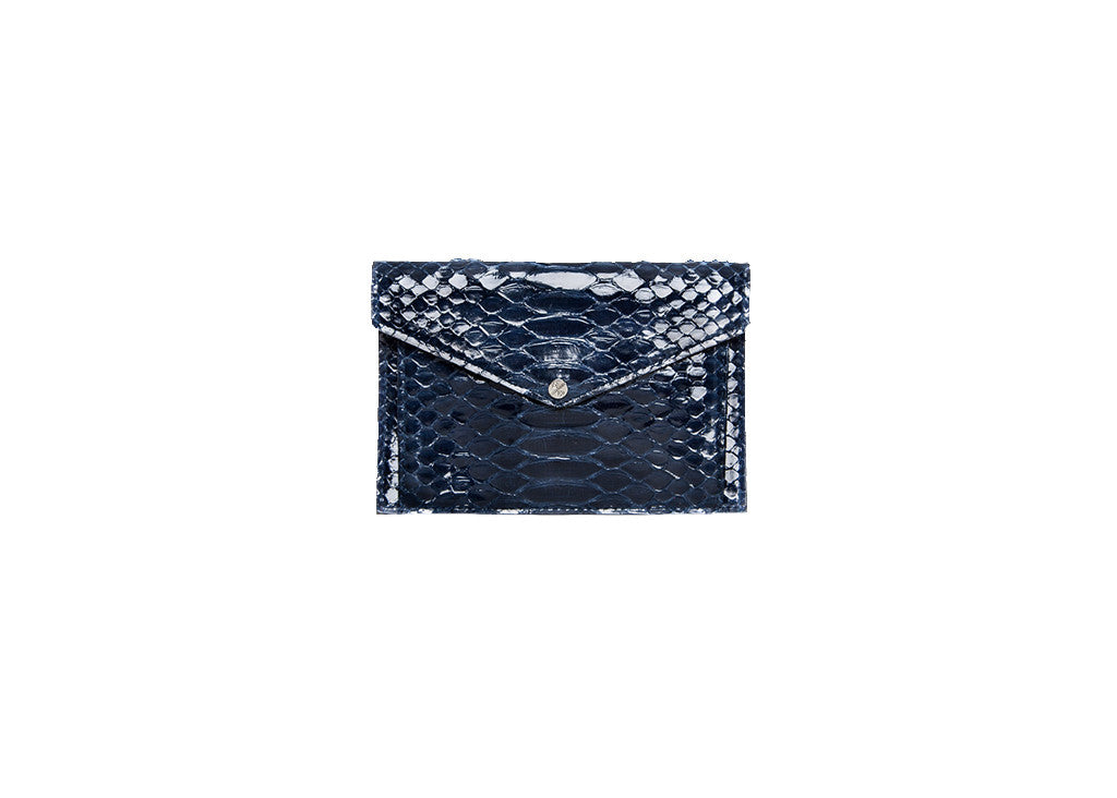 Provence Small Wallet, Midnight Glazed Snakeskin