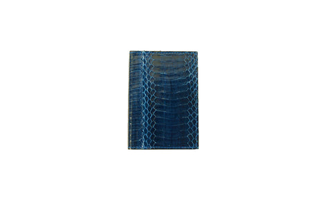 Lugano Passport Case, Midnight Glazed Whipsnake
