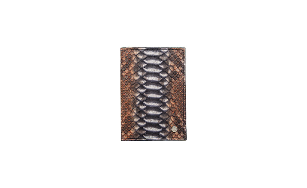 Lugano Passport Case, Mink Multi Colored Snakeskin