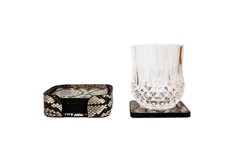 Rabat Coasters, Natural Snakeskin