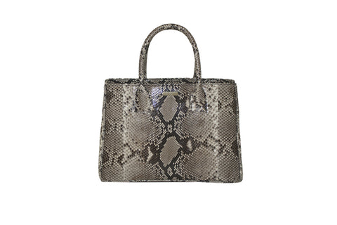 Medium Belgravia Tote, Natural Snakeskin