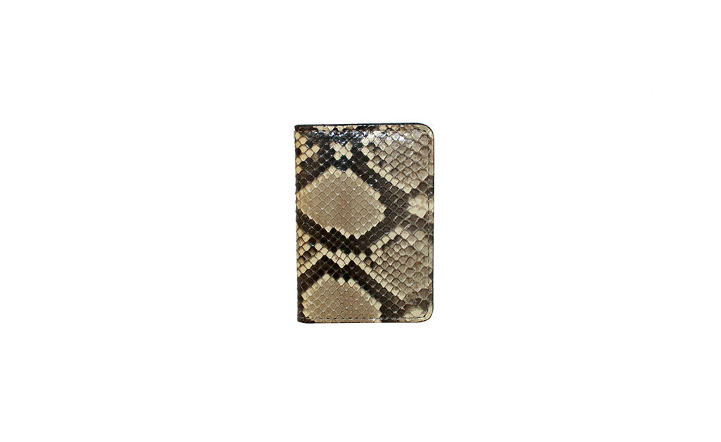 Panama Card Holder, Natural Snakeskin