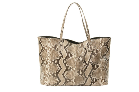 Sydney Large Tote, Natural Snakeskin