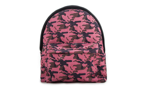 The Andes Backpack, Pink Camo Italian Suede