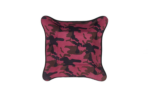 Quebec Travel Valet Large, Pink Camo Italian Suede