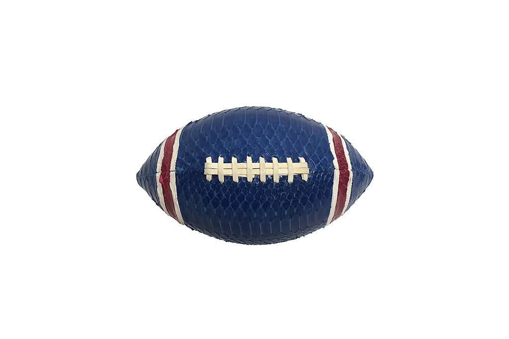 America Football, Blue/White/Red Glazed Snakeskin