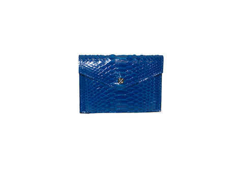 Provence Small Wallet, Royal Blue Glazed Snakeskin