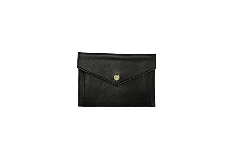 Provence Small Wallet, Black Italian Leather