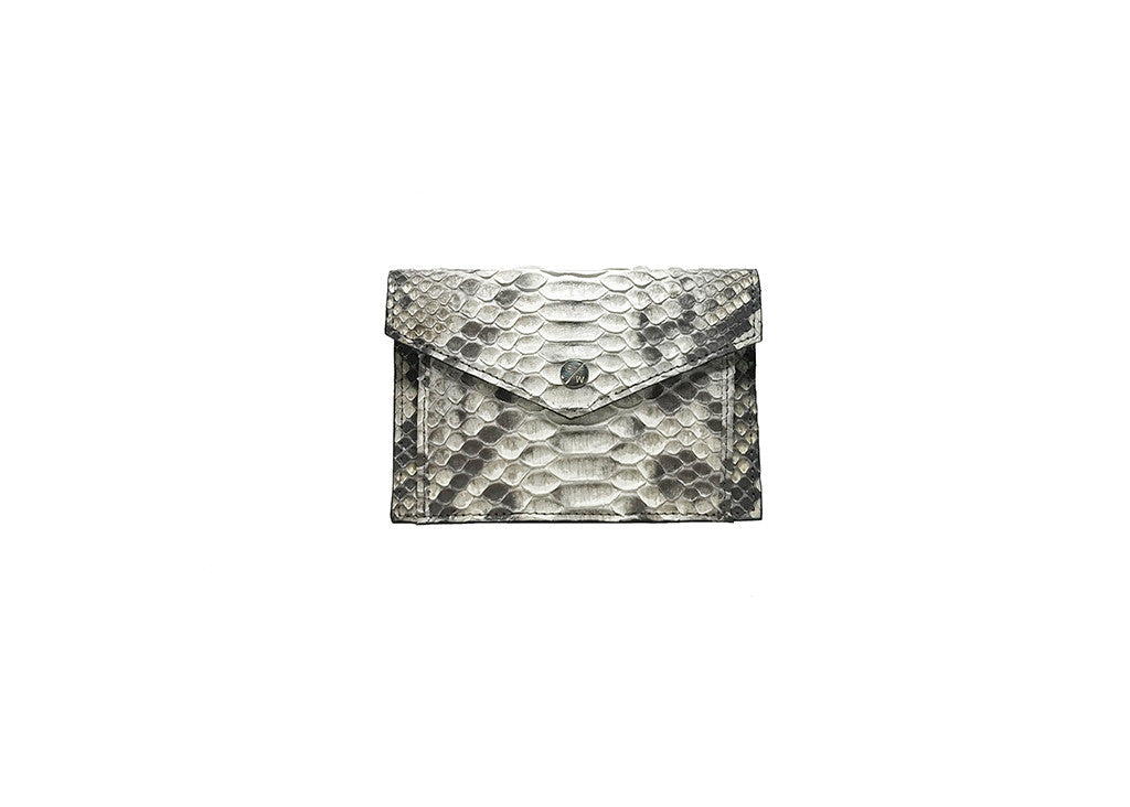 Provence Small Wallet, Salt N Pepper Snakeskin