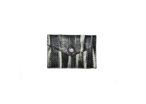 Provence Small Wallet, Shark Tooth Snakeskin