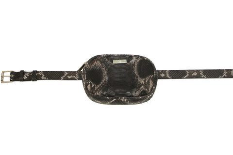 Avignon Fanny Pack with Belt, Spanish Charcoal Snakeskin