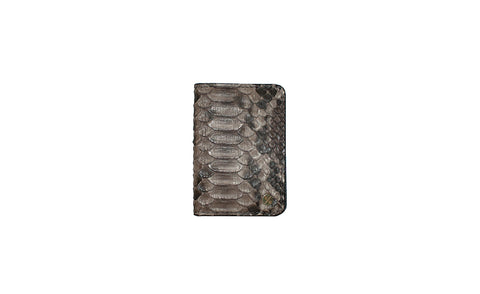 Panama Card Holder, Spanish Charcoal Snakeskin