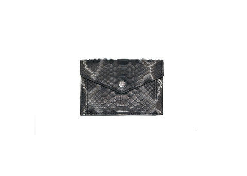 Provence Small Wallet, Spanish Charcoal Snakeskin