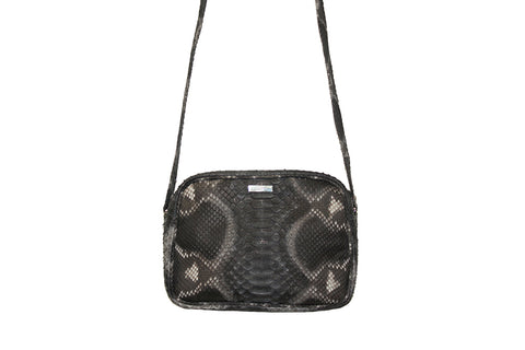 Venice Cross-Body, Spanish Charcoal Snakeskin