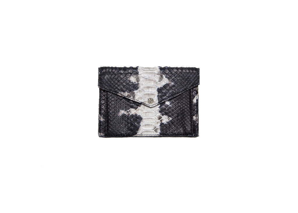 Provence Small Wallet, B/W Starburst Snakeskin