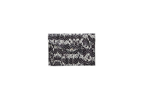 Provence Small Wallet, B/W Static Italian Watersnake