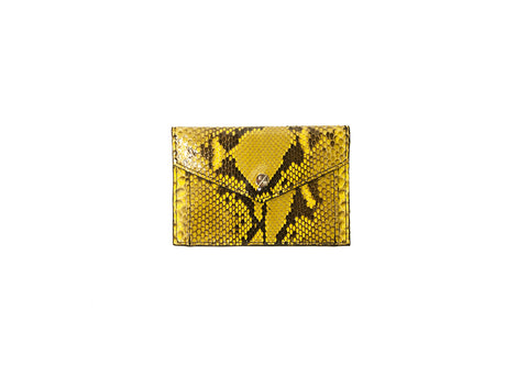 Provence Large Wallet, Yellow Glazed Snakeskin
