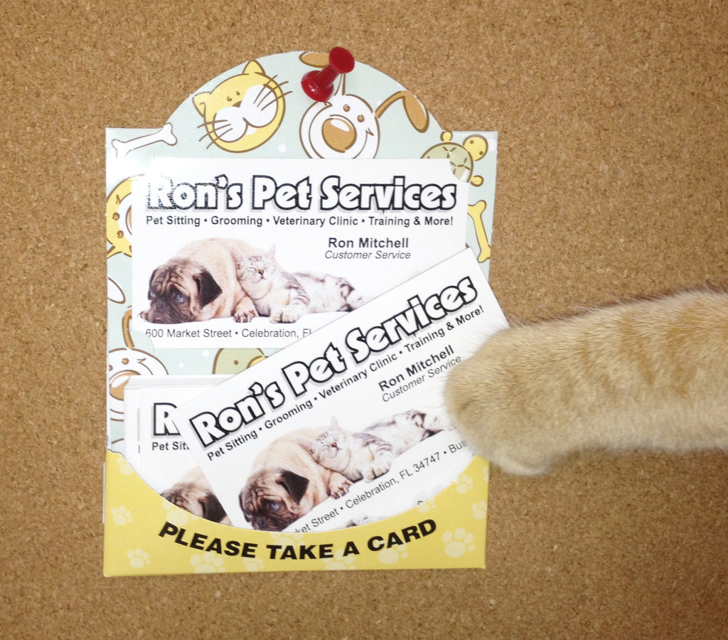 Cat Dog Pet Business Card Holder