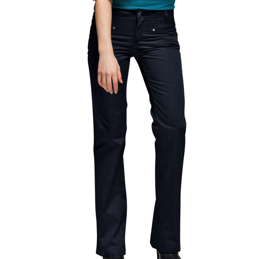 Navy Toby Straight Pants