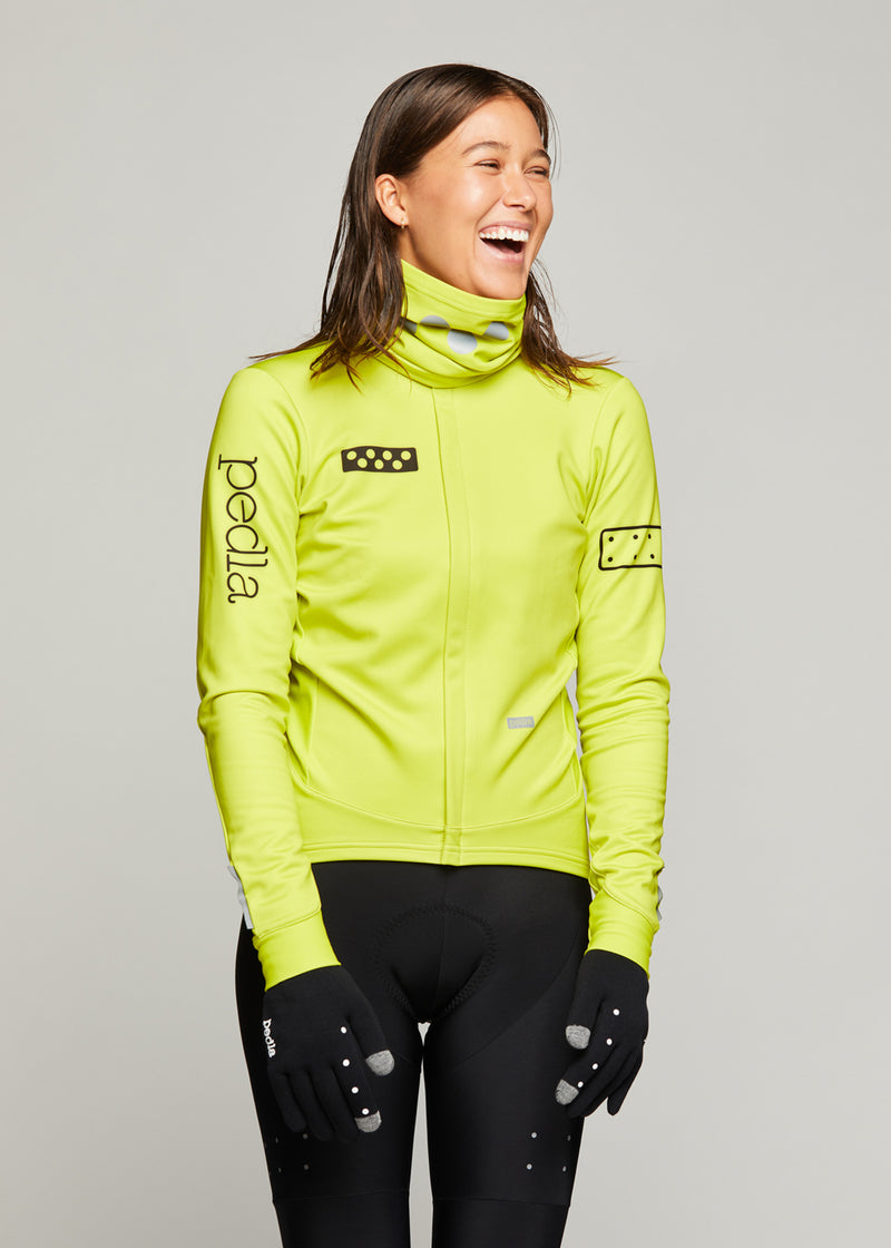 BOLD / Women's AquaFLEECE Jacket - Neon Yellow