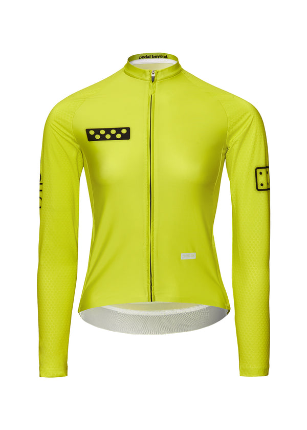 BOLD / Women's LunaPRISM L/S Jersey - Neon Yellow