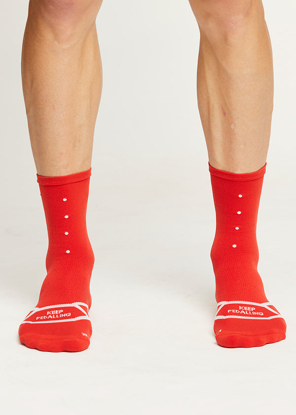 Lightweight Socks / 3 Pack - Red