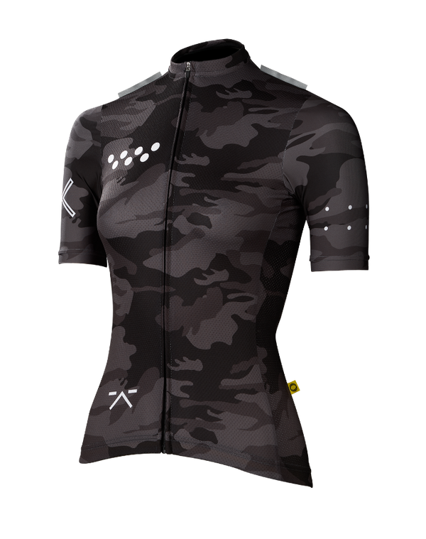 RideCAMO / Woman's AeroLUXE Jersey - Charcoal