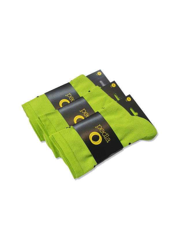Lightweight Socks / 3 Pack - Lime Green