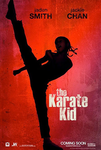 movie poster of english hollywood movie karate kid featuring jackie chan