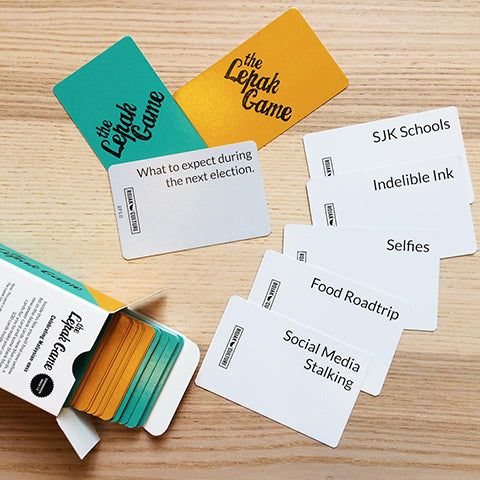 image of malaysian inspired card game called the lepak game about malaysian childhood memories and relatable moments for chinese new year