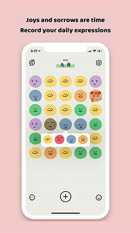 image of productivity phone application called emmo showing its mood tracker function