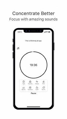 image of productivity phone application called minimalist showing its pomodoro timer function