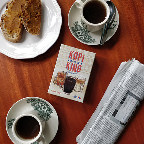 image of singapore local card game called kopi king inspired by singaporean coffee shops drinks and beverages