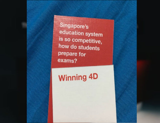 image of singapore local card game inspired by cards against humanity for chinese new year