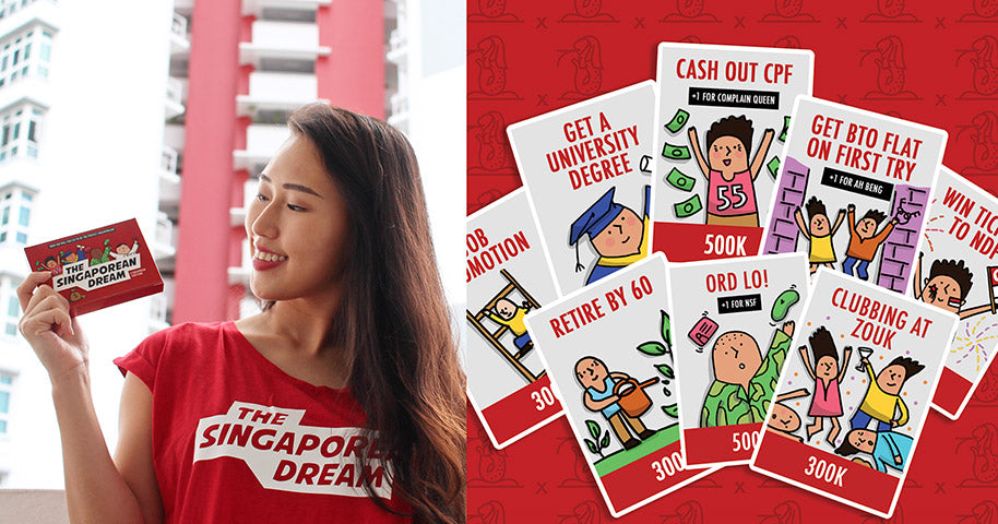 image of singapore local card game the singaporean dream with localised card themes