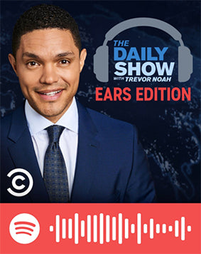 spotify code for podcast the daily show with trevor noah comedian