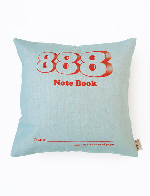 Nostalgic Cushion Covers - 888 Notebook square cushion cover in light blue
