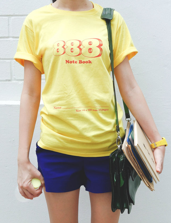 888 Notebook T-Shirt in Yellow