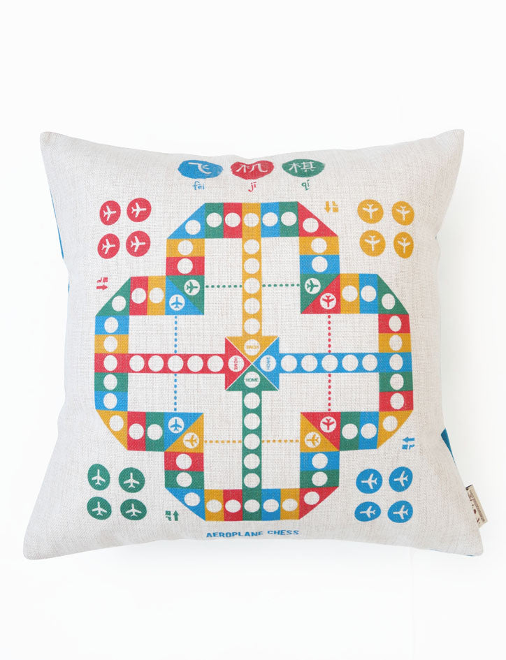 Aeroplane Chess Cushion Cover