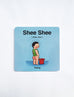 Cute quirky Singapore baby talk shee shee coasters for your home