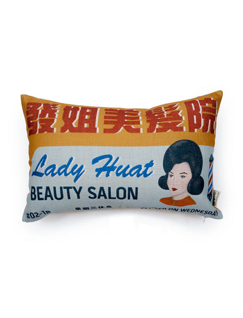 Nostalgic Singapore - Beauty Salon Rectangular Cushion Cover