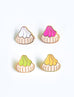 Fancy Gem Biscuit Enamel Pins