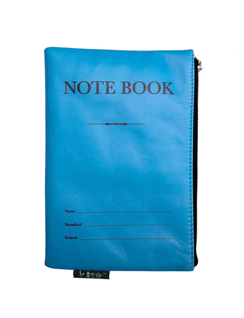 old school singapore blue notebook pouch